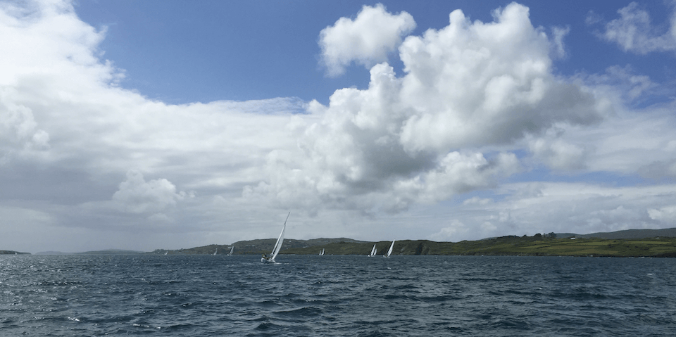 Photograph of club boats racing