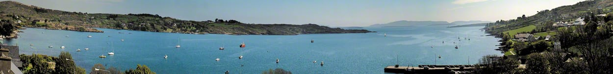 Panoramic picture of Schull Harbour