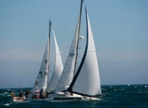 Photo of two boats during Calves Week